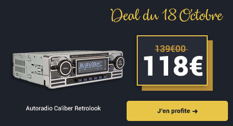 Autoradio USB-SD-Bluetooth Caliber RMD 120BT Chrome