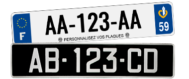 Plaques d'immatriculation