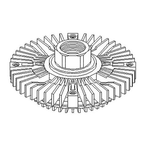 viscocoupleur de ventilateur pour audi a4  b5  et a6  c4