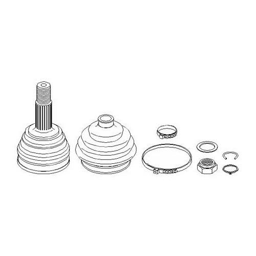 Kit noix et soufflet de transmission côté roue pour Audi
