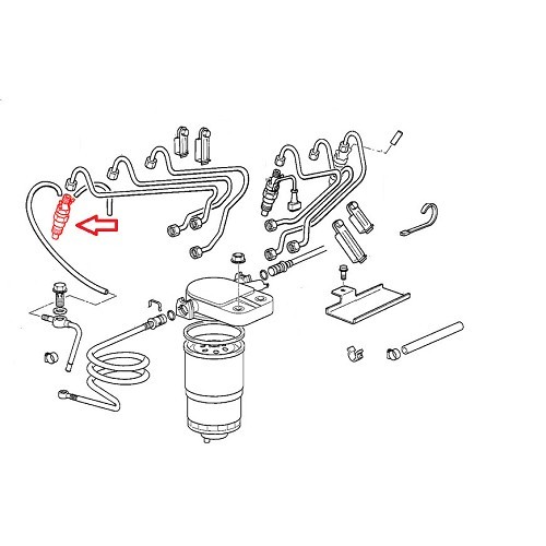 BOSCH injector head for BMW E39 525 td/tds 13 51 2 245 810