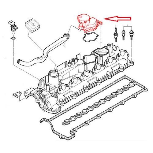 Ventilation unit to recycle oil fumes for BMW E90/E91/E92
