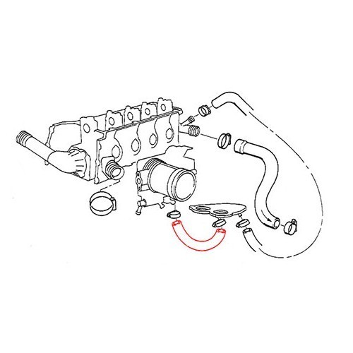 Water Hose On Flange For E36 M43 Up To 0794