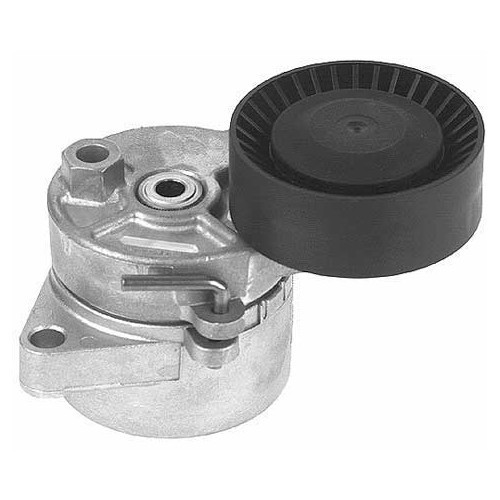 Air conditioning pump roller with pre-tensioner for BMW E39 and E46