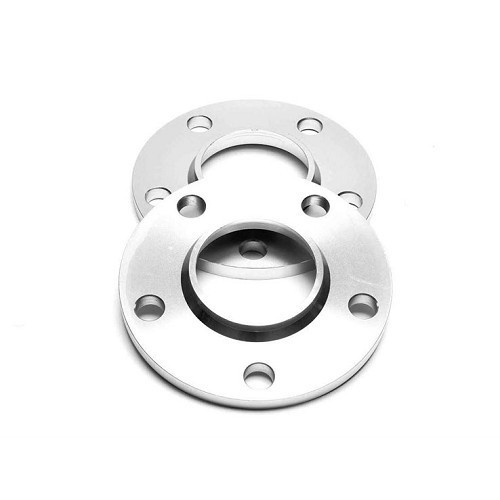 2 x 10 mm aluminium spacers for BMW 5 x 120 mm holes, 72.6 mm hub