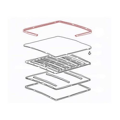 joint de grand toit ouvrant central pour transporter 79. Black Bedroom Furniture Sets. Home Design Ideas
