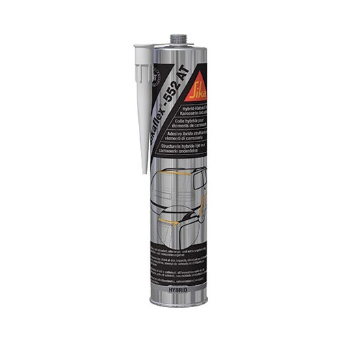 High resistance SIKAFLEX 552AT glue - black color 300 ml