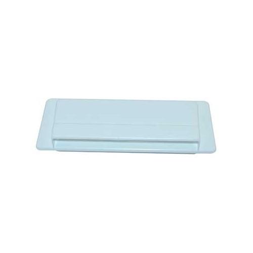 grille ext rieure a ration plastique 205x75 mm blanche. Black Bedroom Furniture Sets. Home Design Ideas