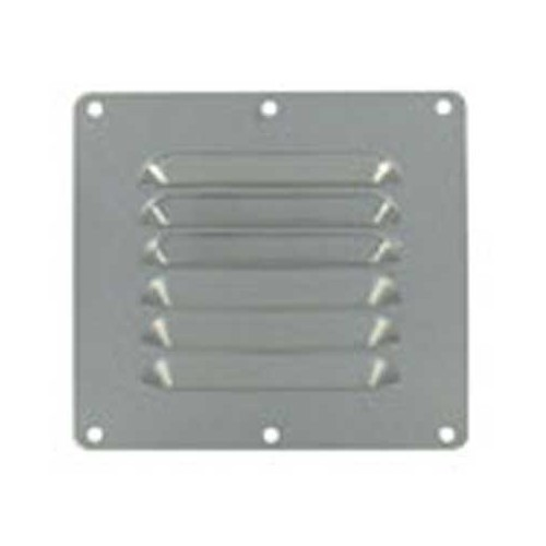Stainless steel ventilation grille, 127x115 mm.