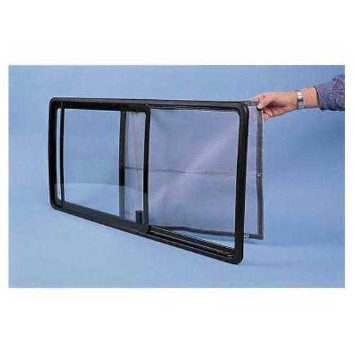Mosquito net for sliding side window on VW T4