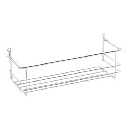 Metal L-shaped kitchen shelf