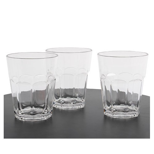 Lot de 3 verres à orangeade en polycarbonate 300 ml