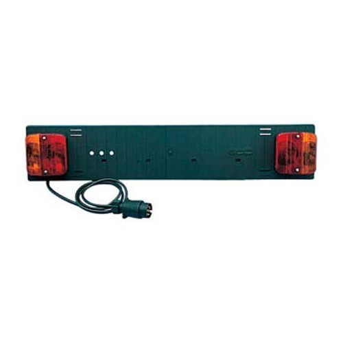 Bike carrier registration plate lighting