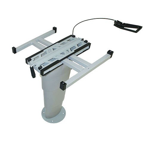 pied table t lescopique aluminium primero comfort hvk haut maxi 705 mm primero comfort. Black Bedroom Furniture Sets. Home Design Ideas