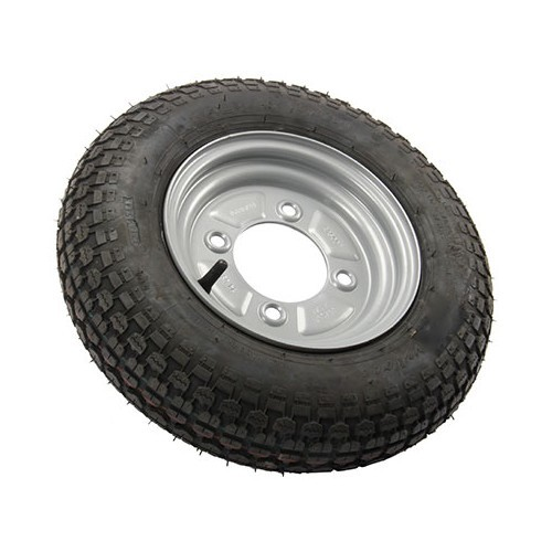 Complete trailer wheel, 350x8