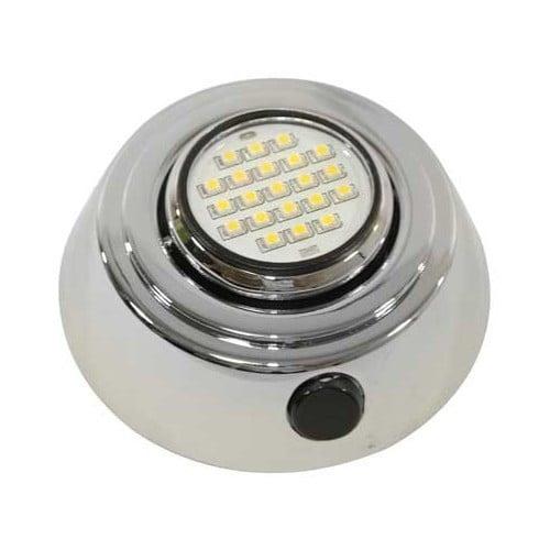 Spot encastrable orientable leds 10 15 2 v chrome for Spot exterieur orientable encastrable