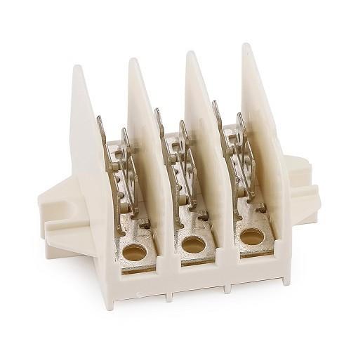 bloc r partiteur 12 connections cosses plates 6 3 mm audi 100 mecatechnic. Black Bedroom Furniture Sets. Home Design Ideas