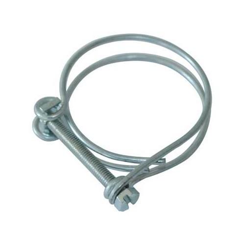 collier double fil pour tuyau vacuation 40 mm vw combi. Black Bedroom Furniture Sets. Home Design Ideas