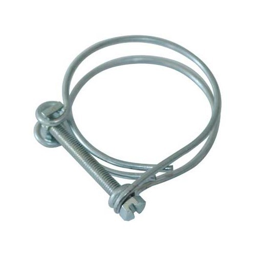 Double threaded collar for 75 mm drainage hose