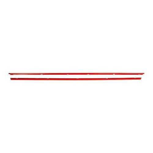 jeu de 4 baguettes alu rouges sur calandre type gti pour golf 1 vw. Black Bedroom Furniture Sets. Home Design Ideas