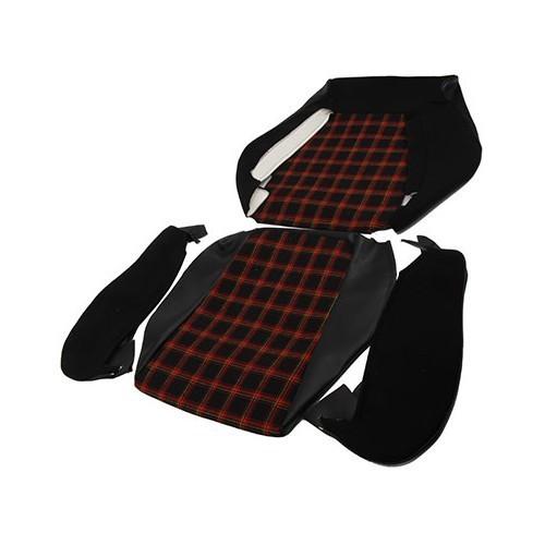 jeu de housses de si ges rouge noir pour golf 1 gti vw. Black Bedroom Furniture Sets. Home Design Ideas