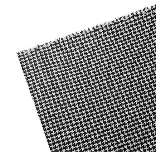 Black and white VW houndstooth fabric