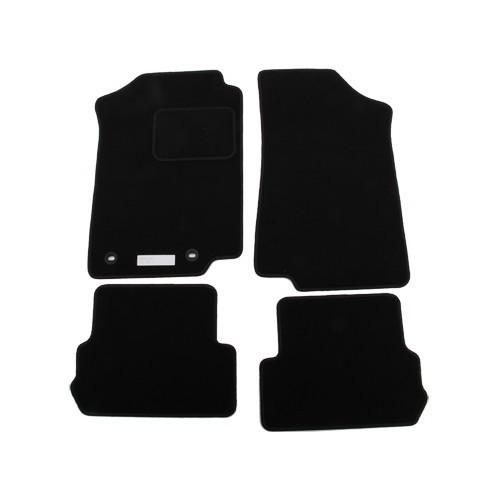 jeu de 4 tapis de sol ronsdorf luxe noirs pour golf 2 et. Black Bedroom Furniture Sets. Home Design Ideas