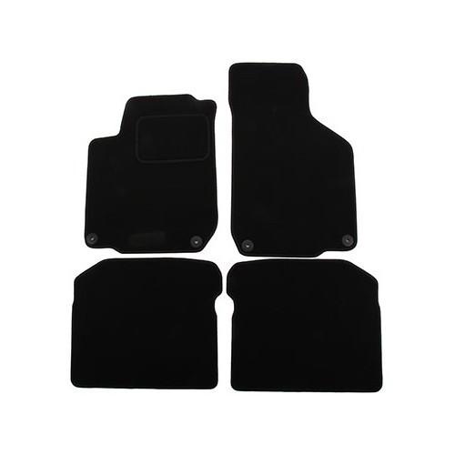 jeu de 4 tapis de sol ronsdorf luxe noirs pour golf 4. Black Bedroom Furniture Sets. Home Design Ideas