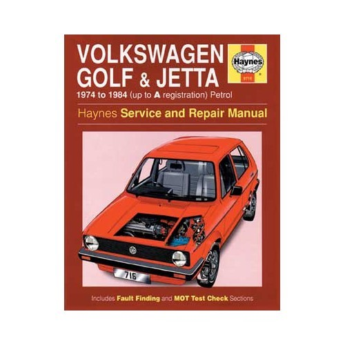Haynes techbook for Volkswagen Golf 1 and Jetta petrol from 74 to 84