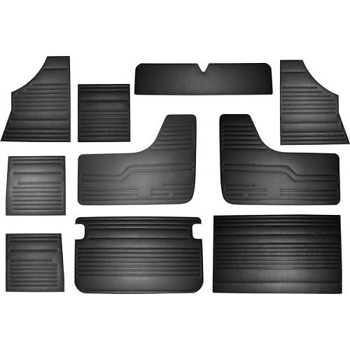 Set panneaux complets sellerie moquettes vw combi - Pieces combi vw t2 ...
