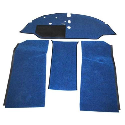 Moquette luxe bleue c avec pourtour tissu noir f de cabine avant avec banquette pour combi for Moquette luxe