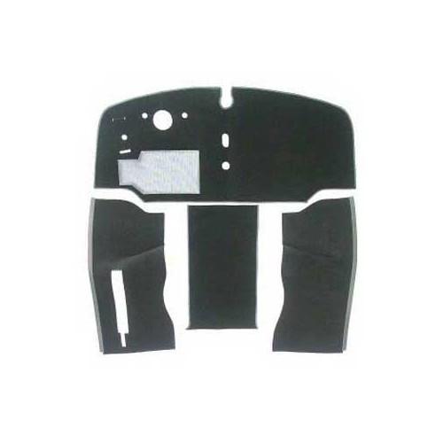 Moquette luxe de cabine avant 2 places pour combi 68 72 gris noir for Moquette luxe