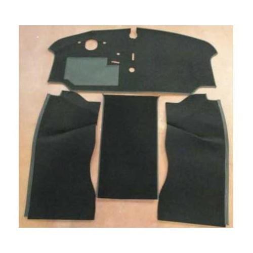 Moquette luxe gris tissu noir de cabine avant 2 places pour combi 73 79 for Moquette luxe
