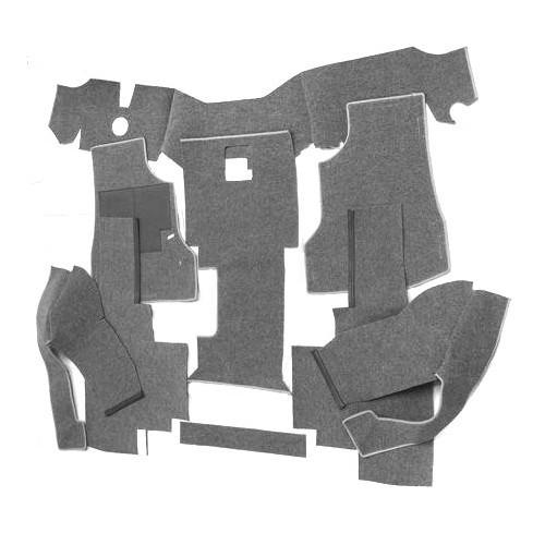 Moquette luxe gris noir de cabine avant pour transporter for Moquette gris chine