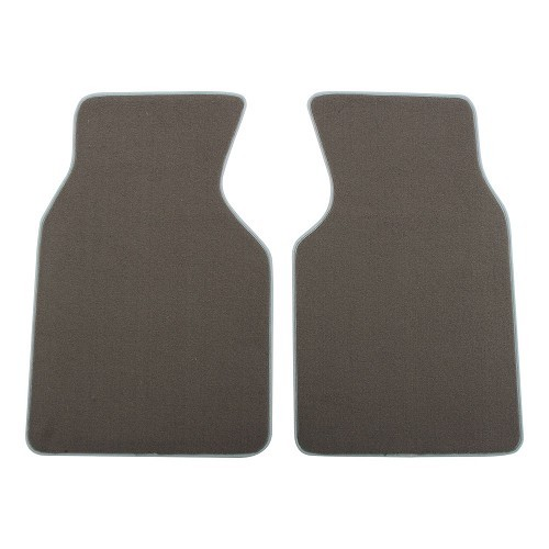 Set of luxury grey front cab mats for Transporter 90 ->03