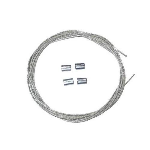 cables laterales de capota para karmann ghia cabriolet 55