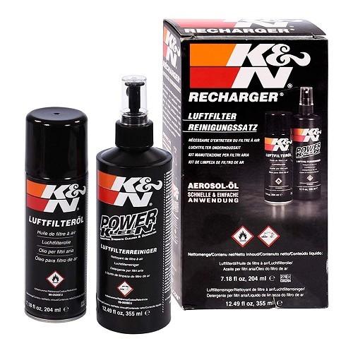 kit d 39 entretien pour filtres air k n huile nettoyant porsche 911 912 mecatechnic. Black Bedroom Furniture Sets. Home Design Ideas