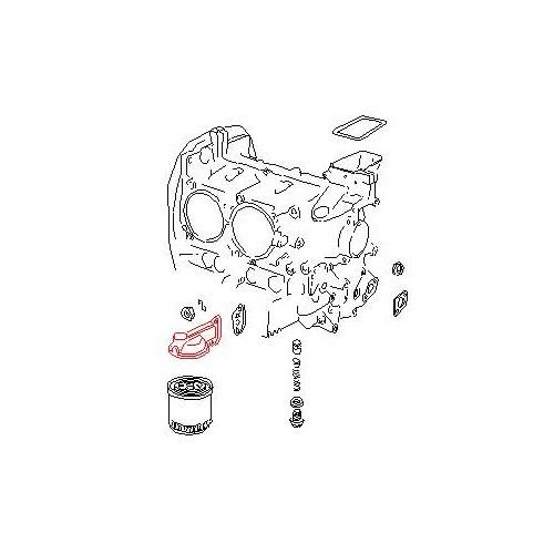 Oil filter support for Porsche 914-4 021 115 353 A