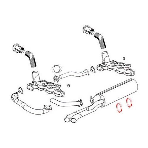 Sangle d'échappement pour Porsche 930 (1975-1989