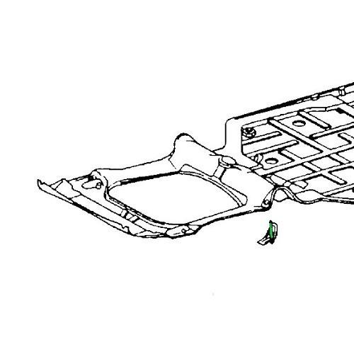 Floorpan support axle for Porsche 911 Turbo (1975-1989)