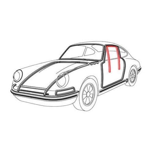 Guide-vitre de porte pour Porsche 911, 964 et 993