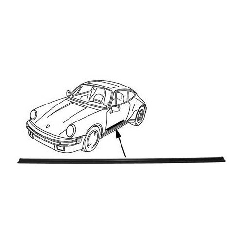 Carpet threshold for Porsche 911 and 964 90155141928
