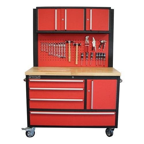 servante d 39 atelier 4 tiroirs 1 porte basse 3 portes. Black Bedroom Furniture Sets. Home Design Ideas