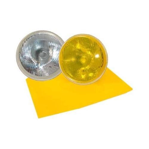 film autocollant jaune ancien pour phares porsche 356 mecatechnic. Black Bedroom Furniture Sets. Home Design Ideas