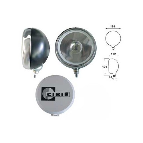 1 180 mm diameter, CIBIE H1 long-range headlight