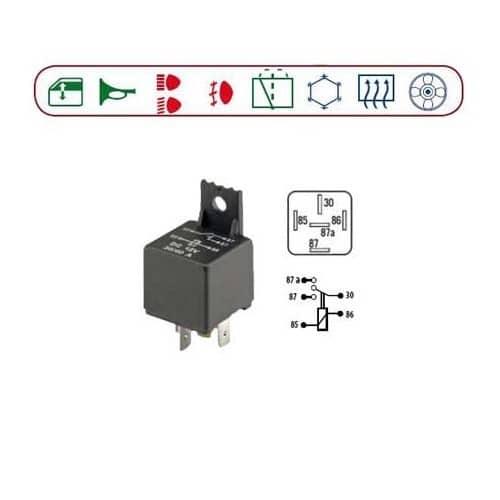 relais 12 volt continue 5 bornes lamellaires change over. Black Bedroom Furniture Sets. Home Design Ideas