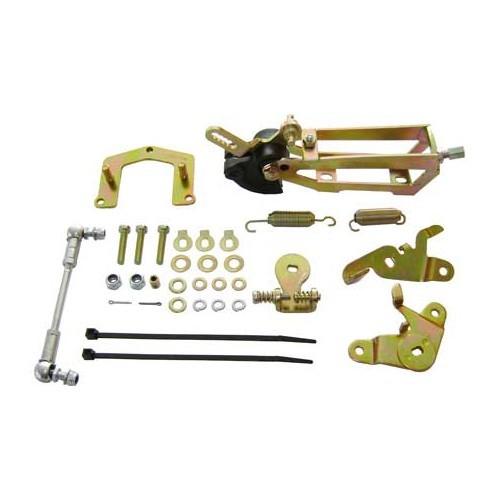 control linkage for 2 carburetors weber dcoe vw corrado mecatechnic. Black Bedroom Furniture Sets. Home Design Ideas