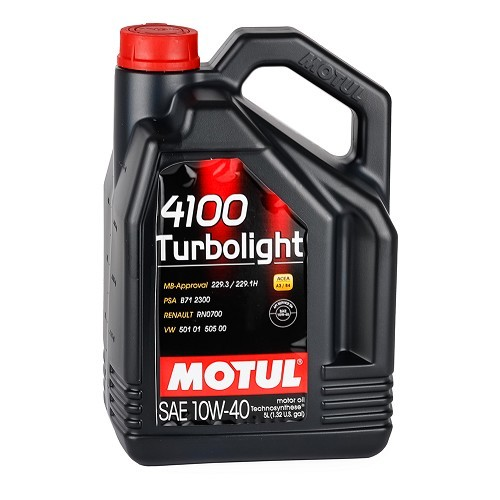 MOTUL 4100 Turbolight oil - 10W40 - 5L
