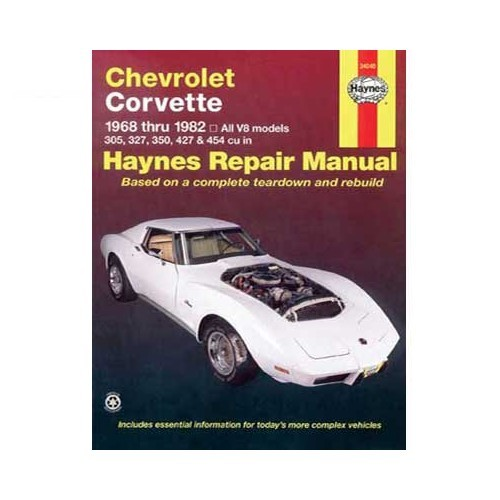 Technical guide for Chevrolet Corvette from 68 to 82