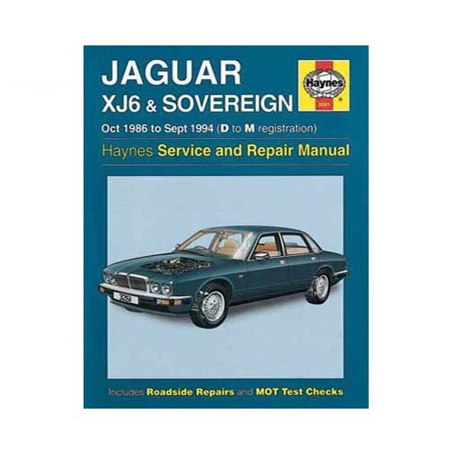 Revue technique pour Jaguar XJ6 & Sovereign d'octobre 86 à septembre 94